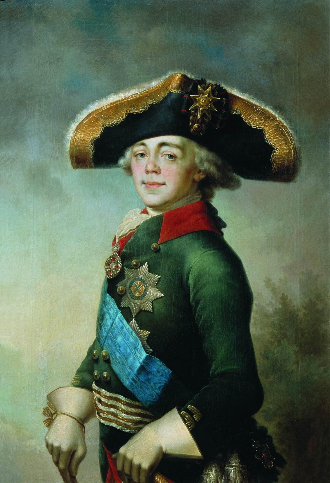Vladimir Lukich Borovikovsky. Portrait of Paul I, Russian Emperor