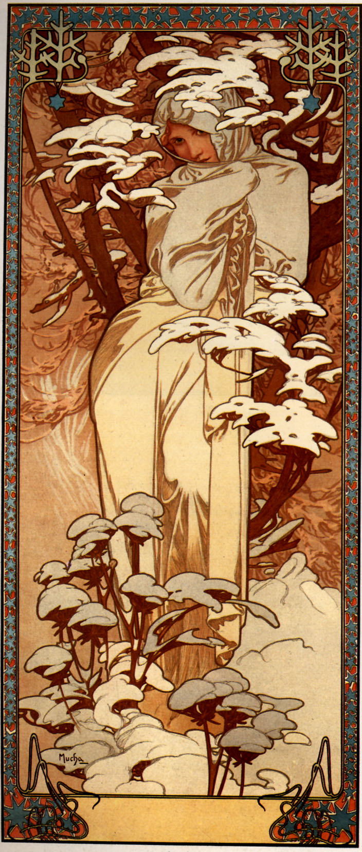 Alphonse Mucha. Winter