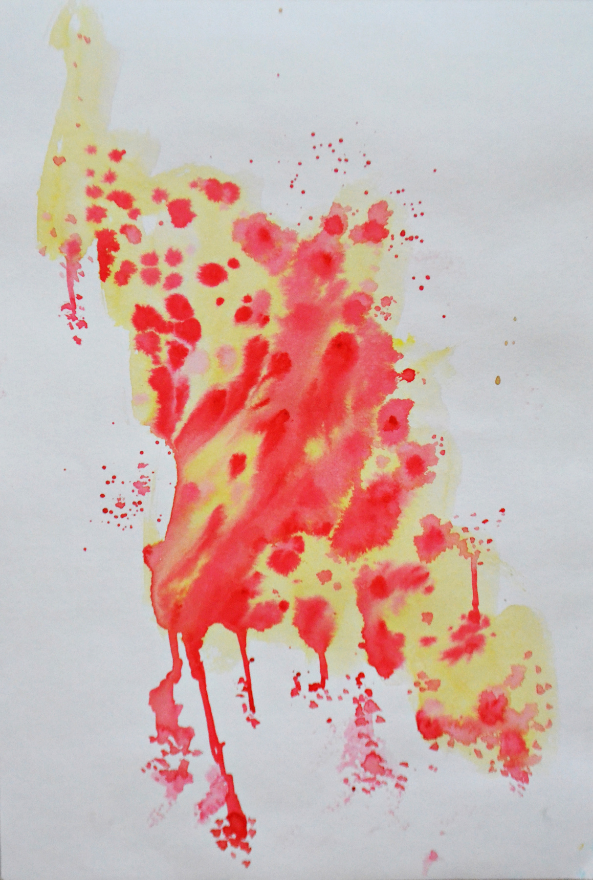 Елена Валерьевна Ведяева. Red yellow abstraction
