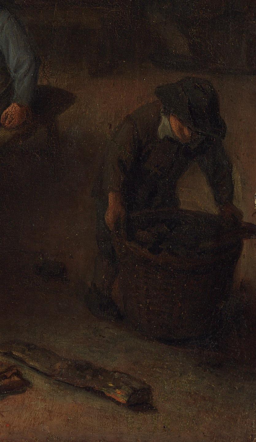Adrian Jans van Ostade. Scene in the tavern. Fragment. A boy with a basket
