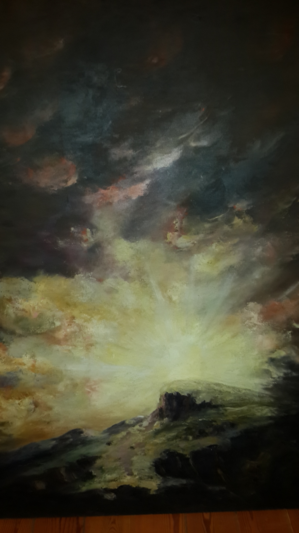 D.M.U. Turner. Sunset at the time of the Flood