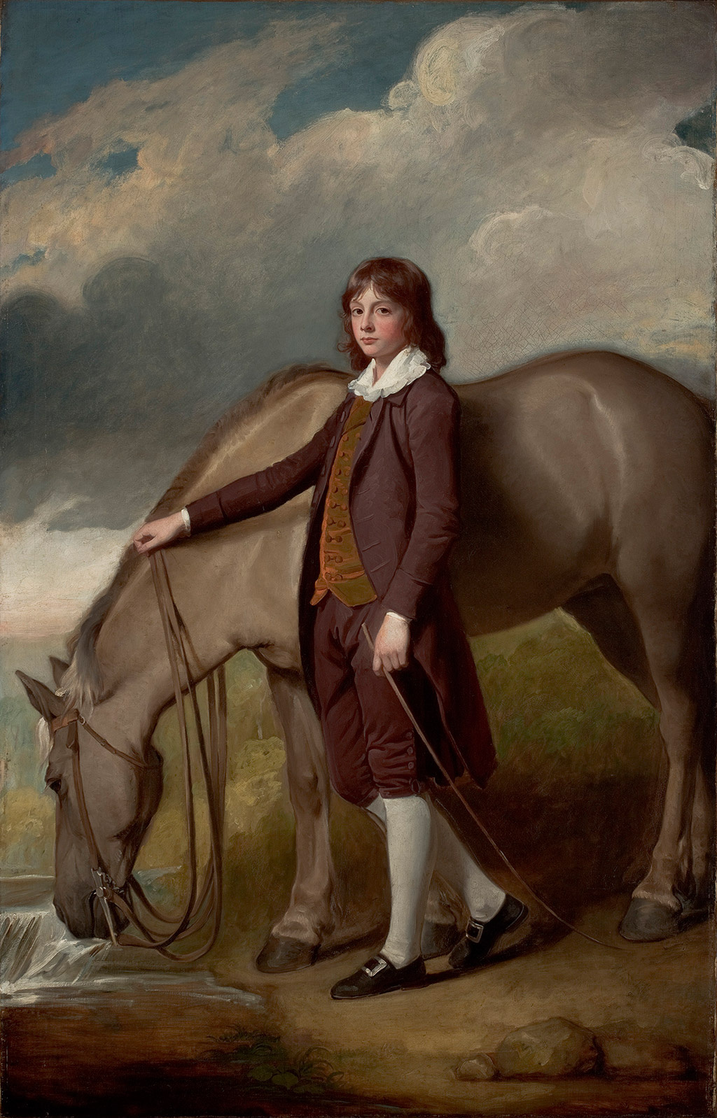 George Romney. John Walter Tempest with a horse