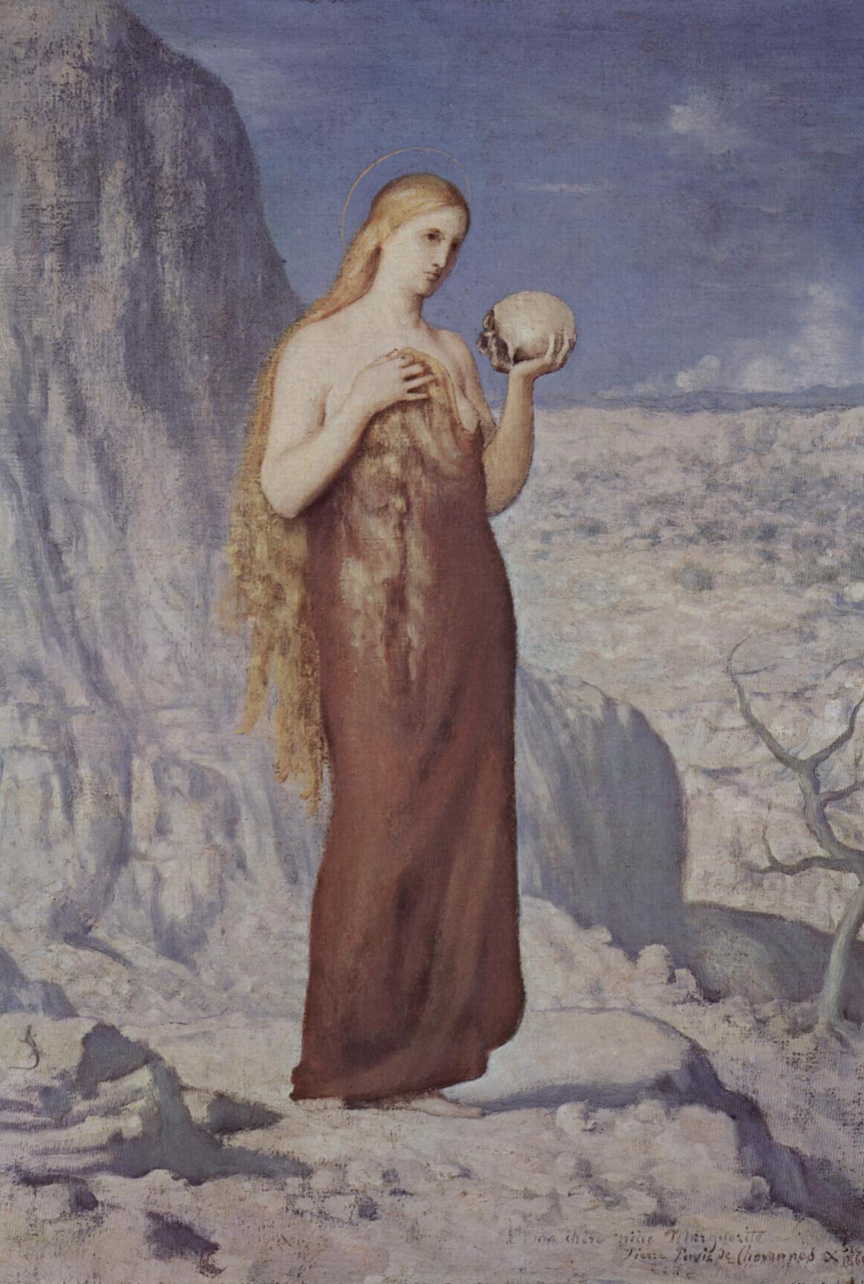Pierre Cecil Puvi de Chavannes. Mary Magdalene in the desert