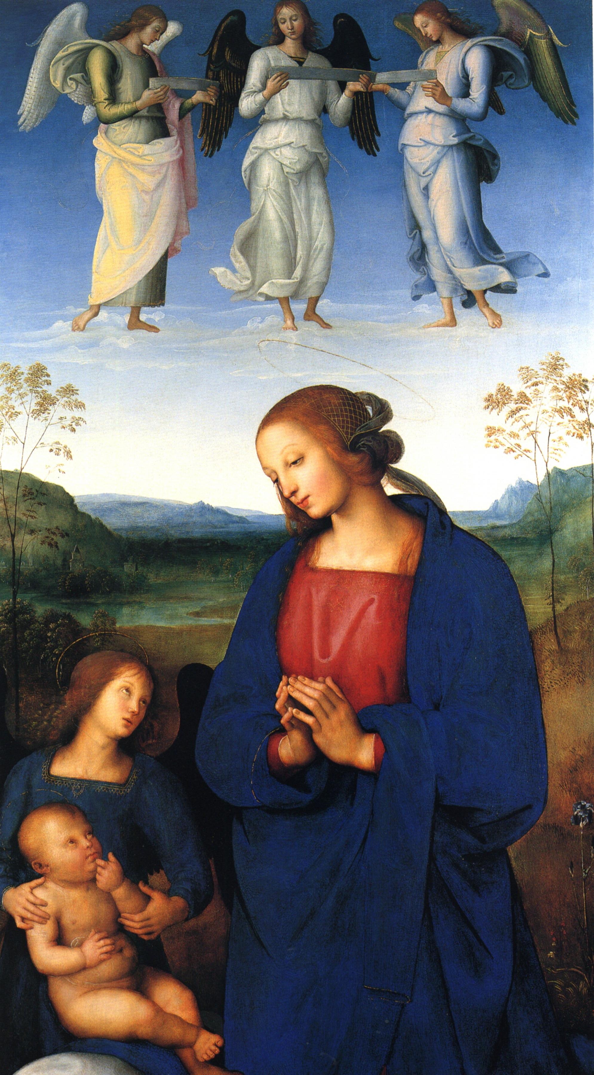 Пьетро Перуджино. Дева с младенцем и ангелом