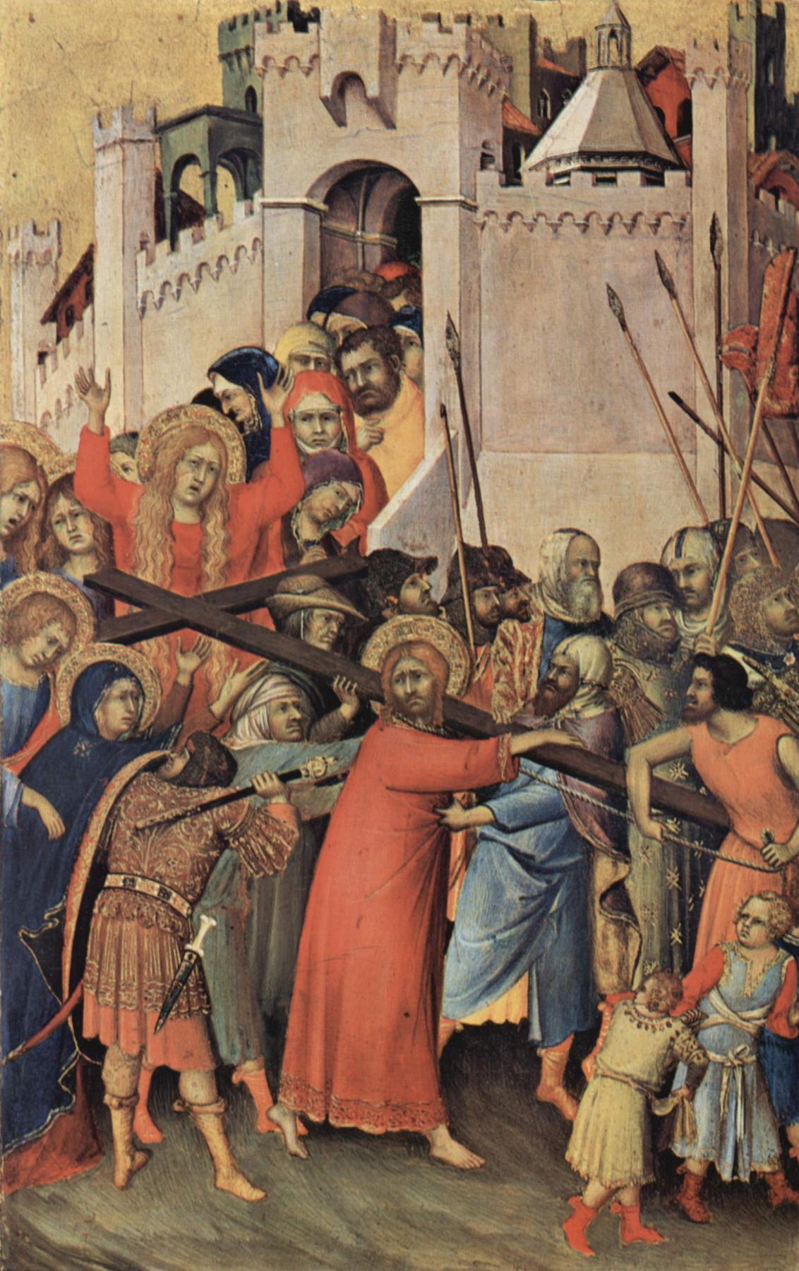 Simone Martini. The Altar Orsini. The carrying of the cross