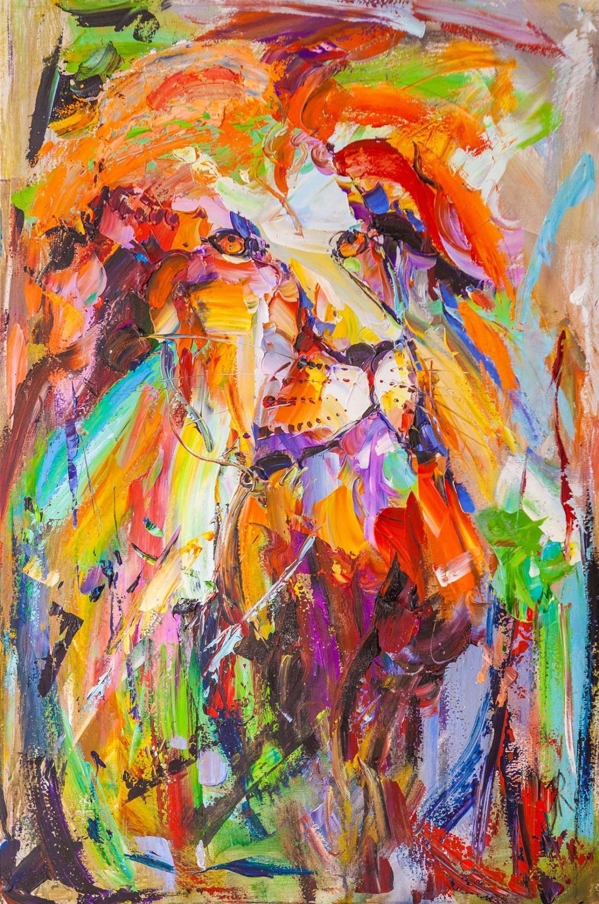 Jose Rodriguez. Lion portrait