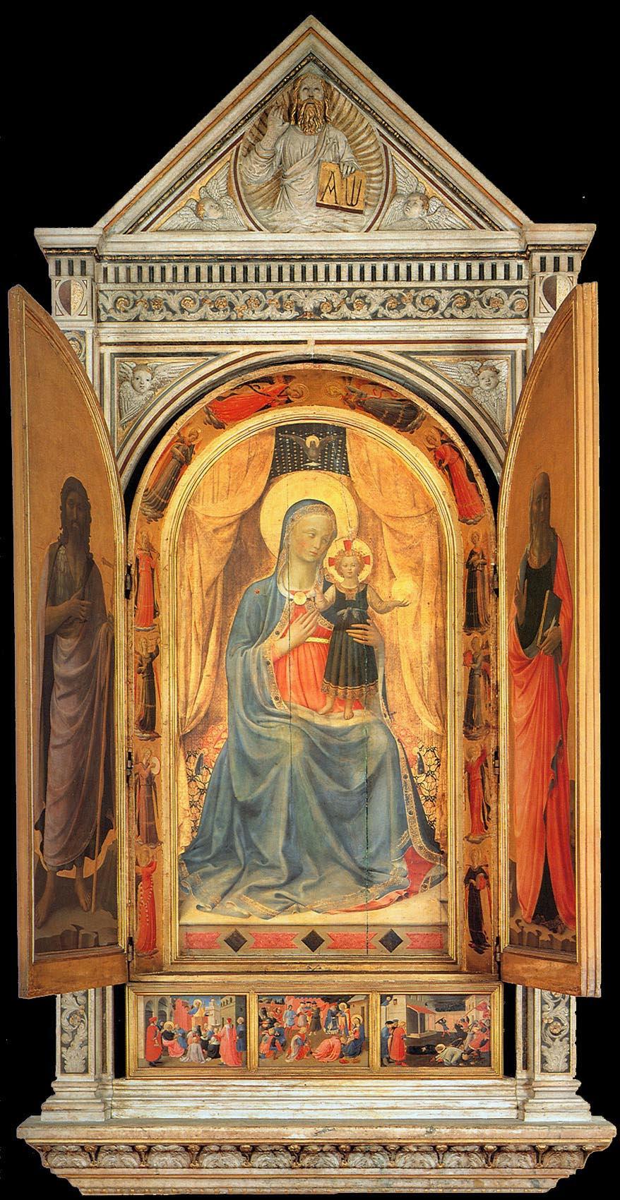 Fra Beato Angelico. Linayolskaya tabernacle (flaps open)