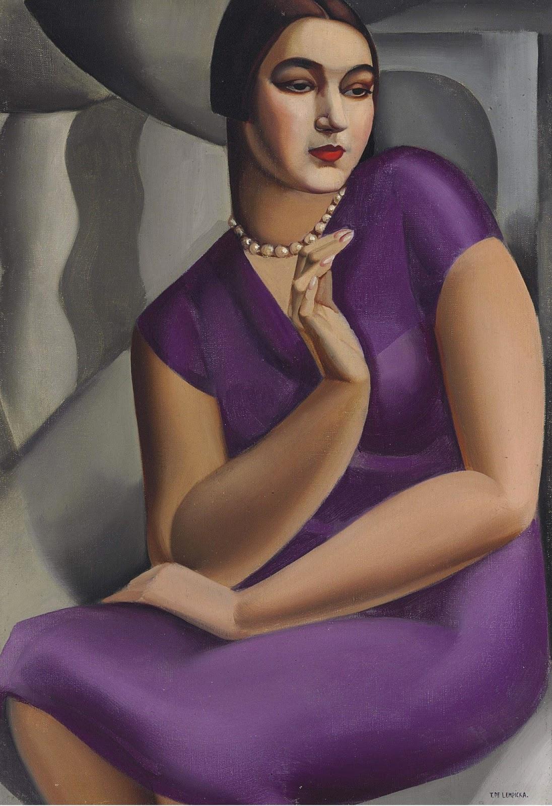Tamara Lempicka. The Duchess de Valmy