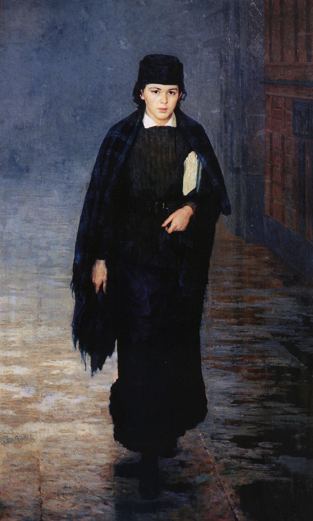 Nikolay Aleksandrovich Yaroshenko. A girl student. 1883
