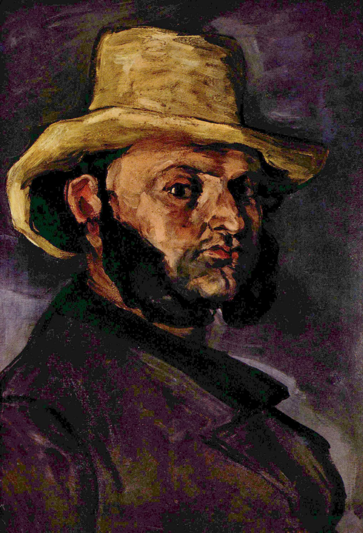 Paul Cezanne. Man in straw hat