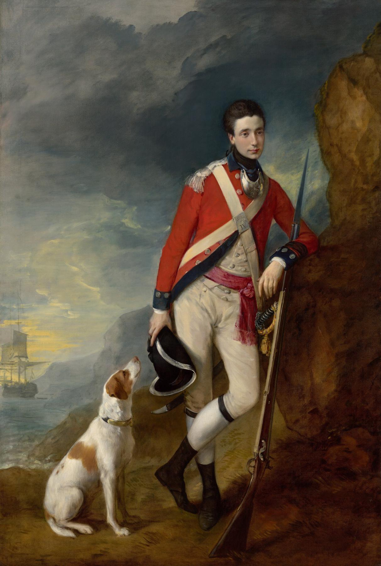 Томас Гейнсборо. Портрет офицера 4-го Пехотного полка с собакой