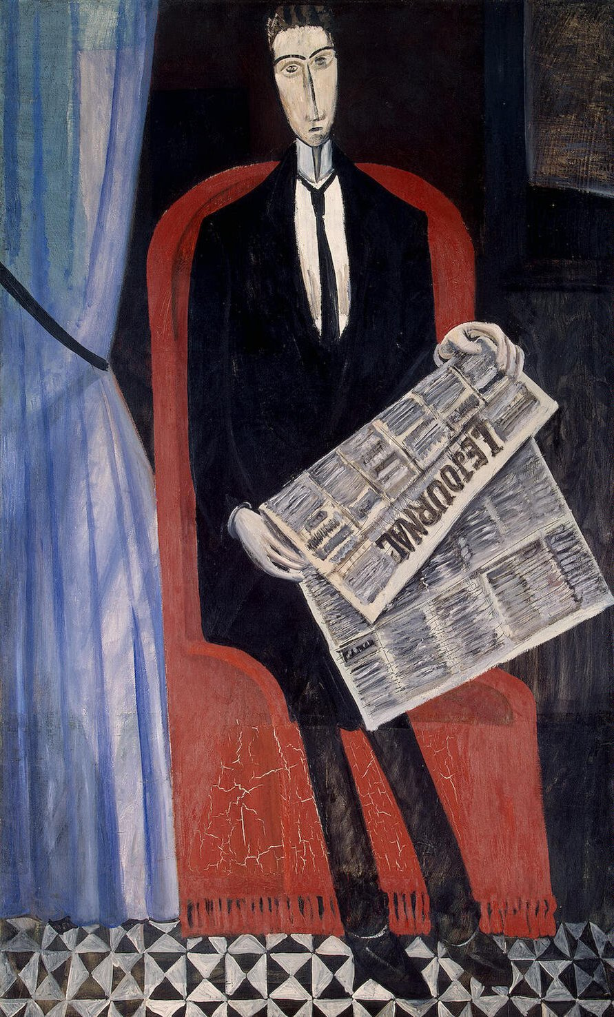 Andre Derain. Portrait of a man with a newspaper