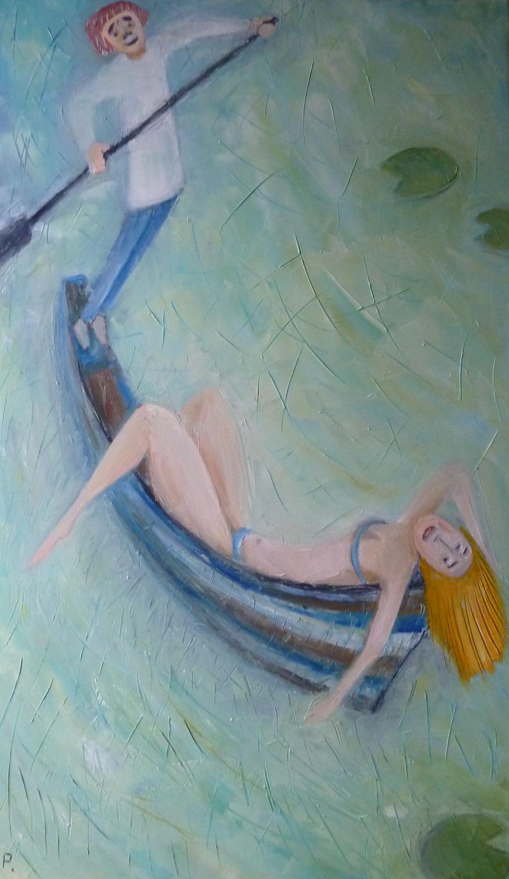 Svyatoslav Ryabkin. On the boat Boat