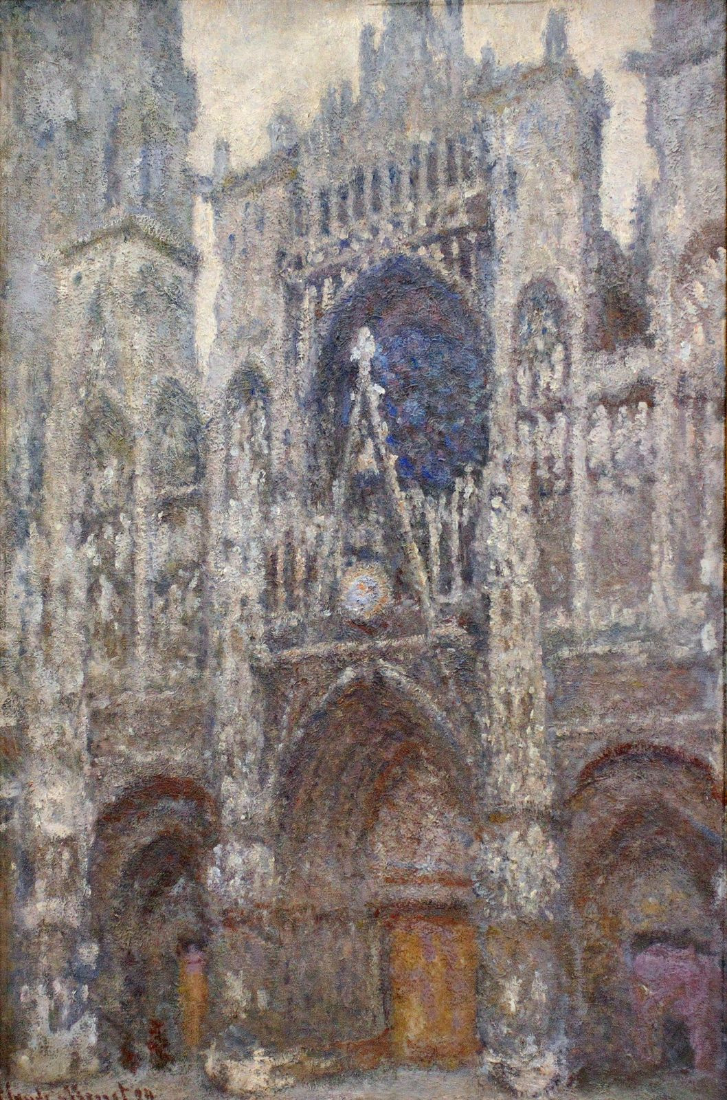 Claude Monet. Rouen Cathedral, cloudy day