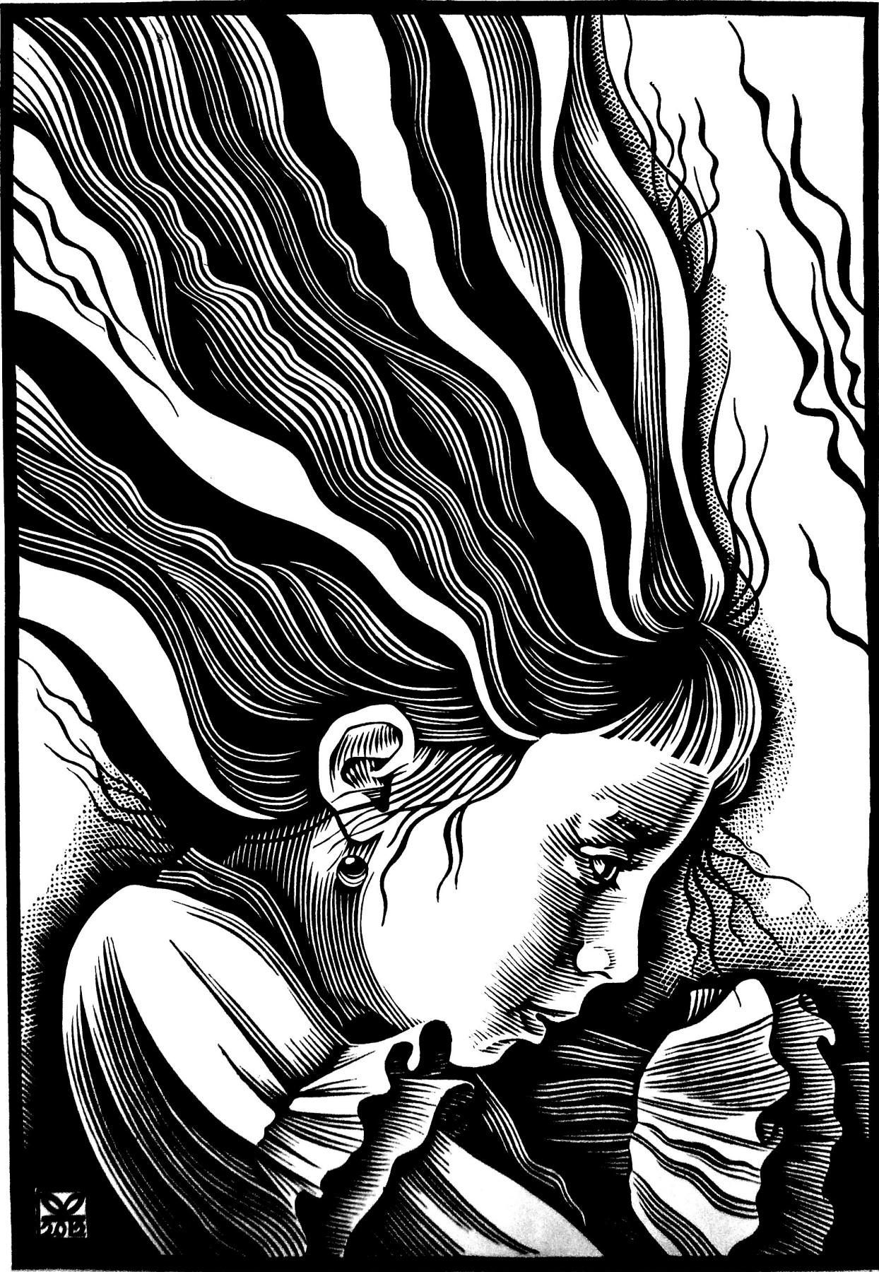 "Vladimir Kataev. ""The day of Wartski"", linocut, 65Х45 , 2012"