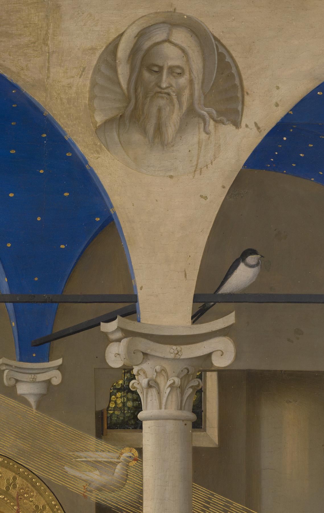 Фра Беато Анджелико. Алтарь Благовещение Марии. Фрагмент. Святой Дух