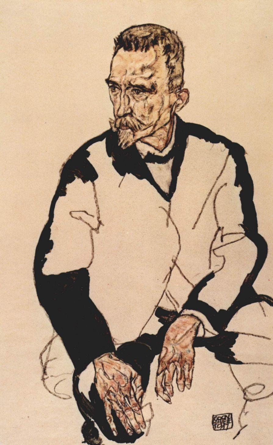 Egon Schiele. Portrait Of Henry Benes