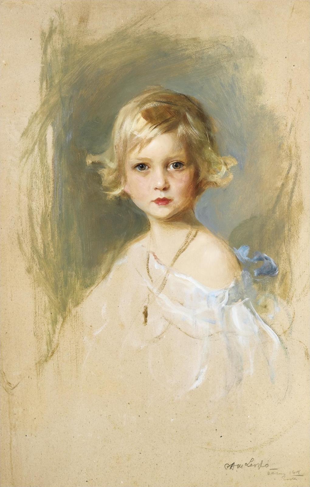 Philip De Alixis Laszlo. Princess Cecile is Greek. 1914