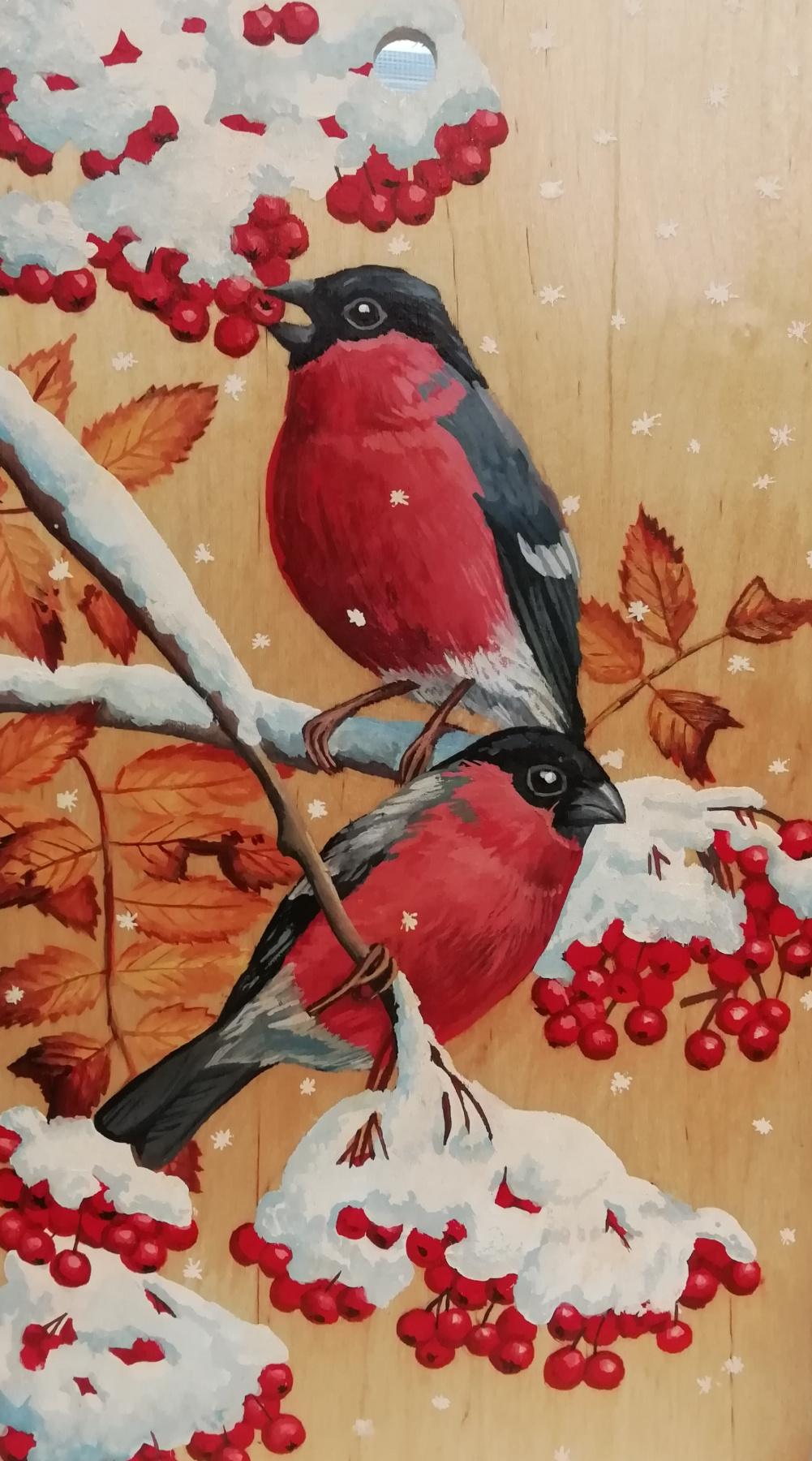 Marianna Eremina. Bullfinches.