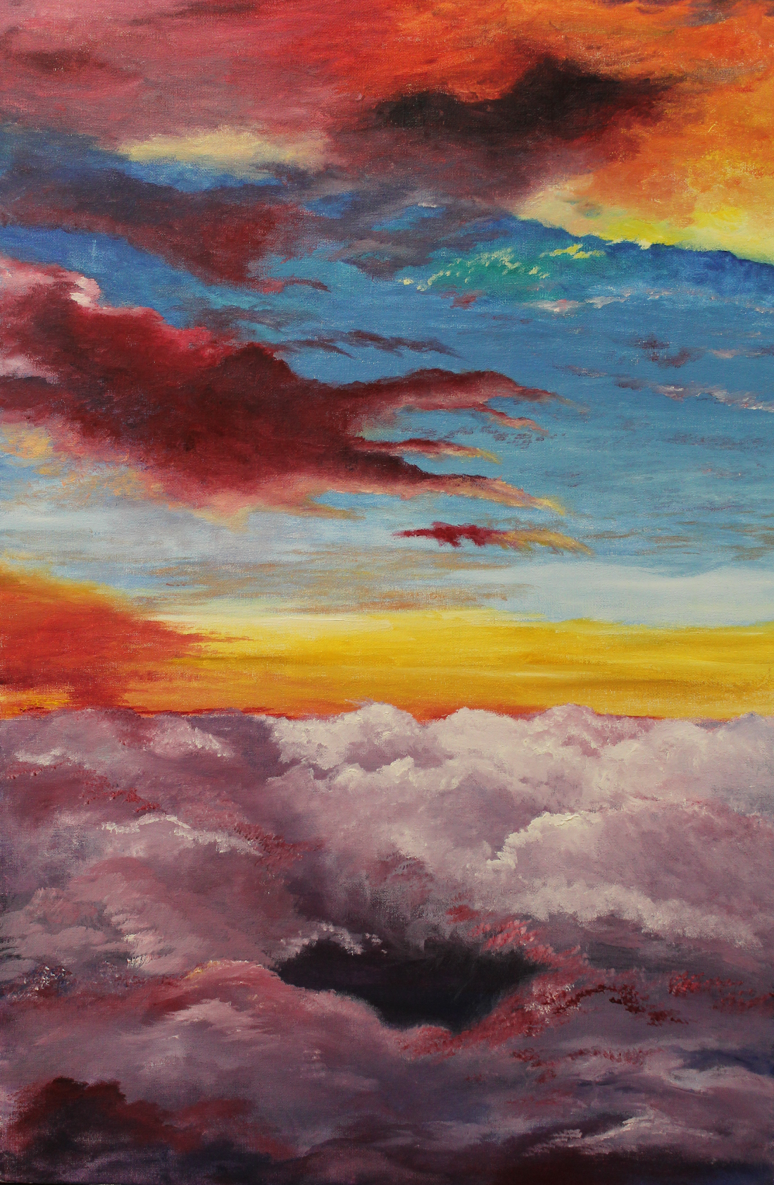 Anastasia Alexandrovna Gusakova. Above the clouds