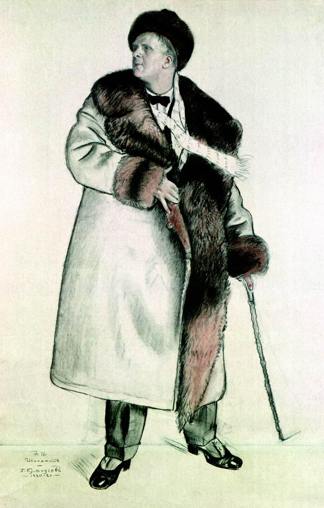 Boris Kustodiev. Portrait Of F. I. Shalyapin