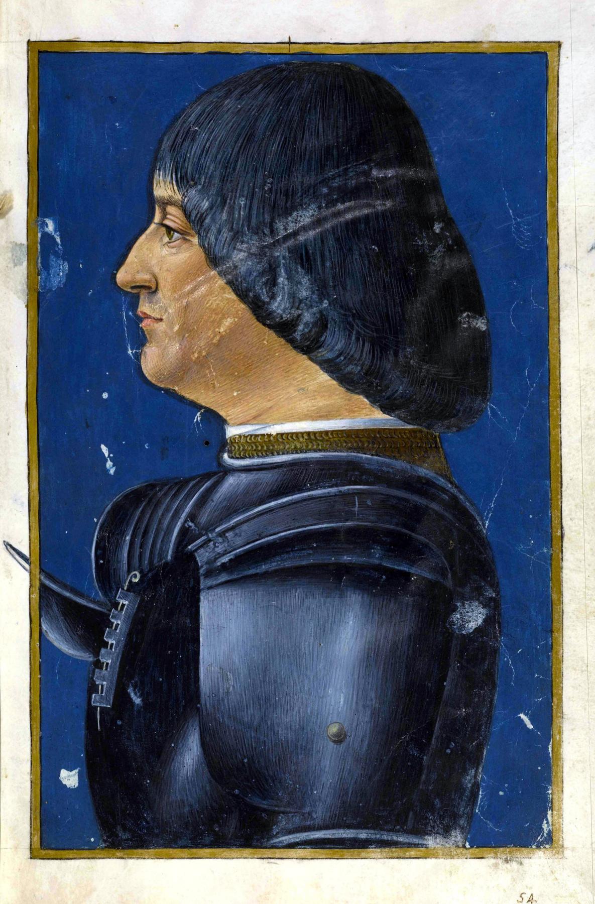 Giovanni Ambrogio de Predis. Portrait Of Ludovico Sforza (Ludovico Moro). Miniature from the Latin grammar of Donatus