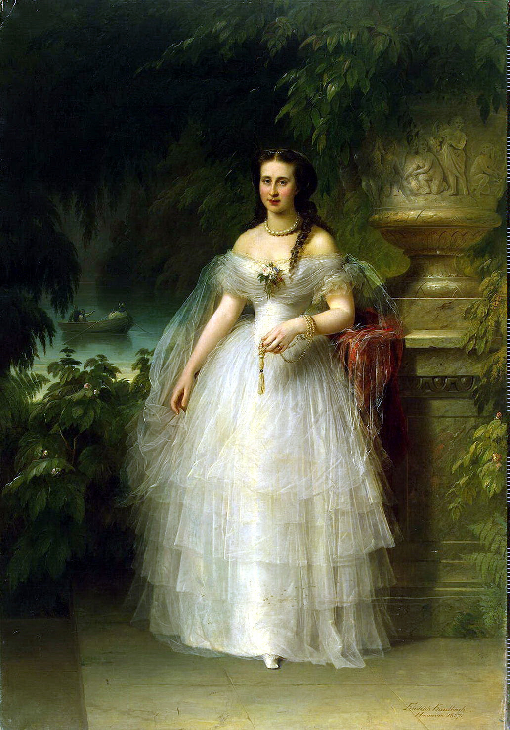 Friedrich August von Kaulbach. Portrait of Grand Duchess Alexandra Iosifovna