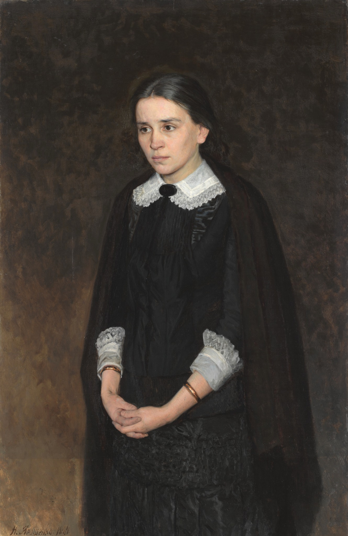 Nikolay Aleksandrovich Yaroshenko. Portrait of actress Pelagia Antipovna Strepetova.