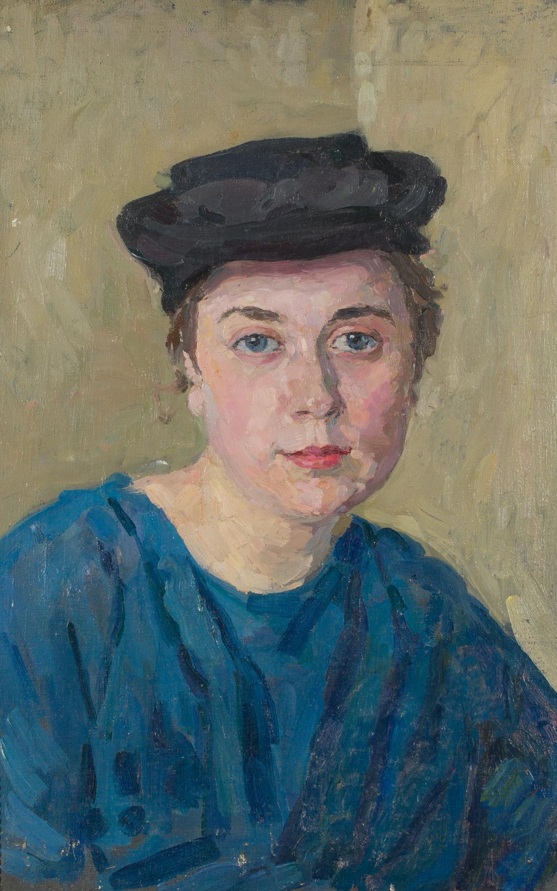 Mark Grigorievich Weinstein. Portrait of a female student in blue