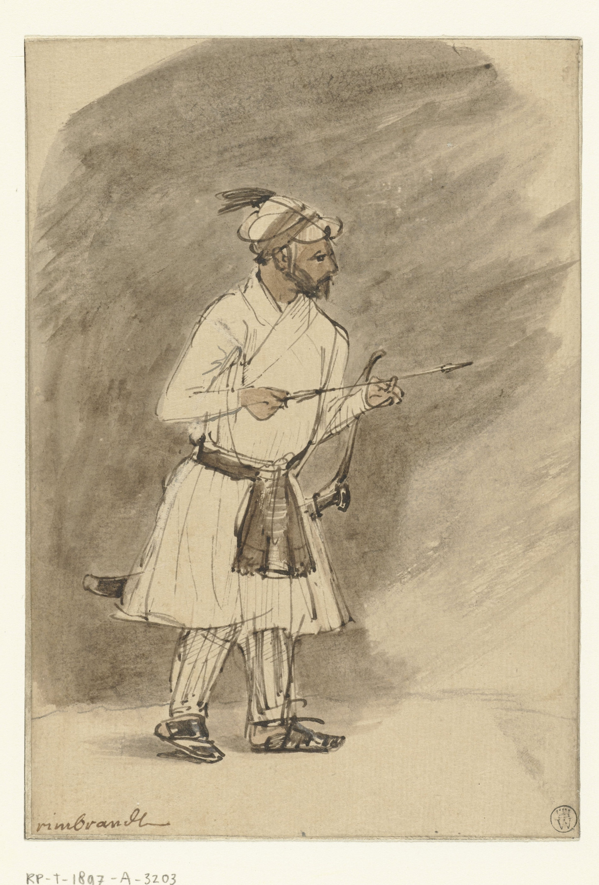 Rembrandt Harmenszoon van Rijn. Индийский лучник