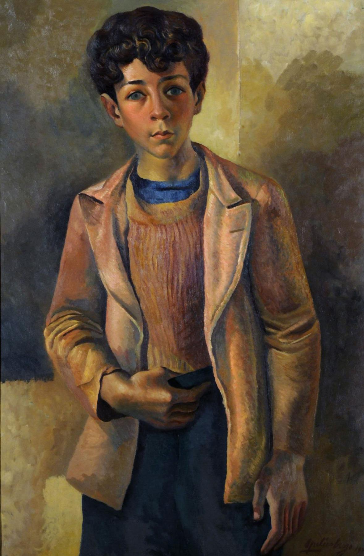 (no name). Boy Figure or Portrait