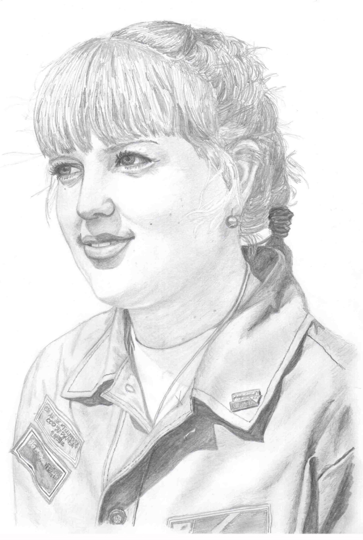Ирина Владимировна Хазэ. Портрет девушки простыми карандашами