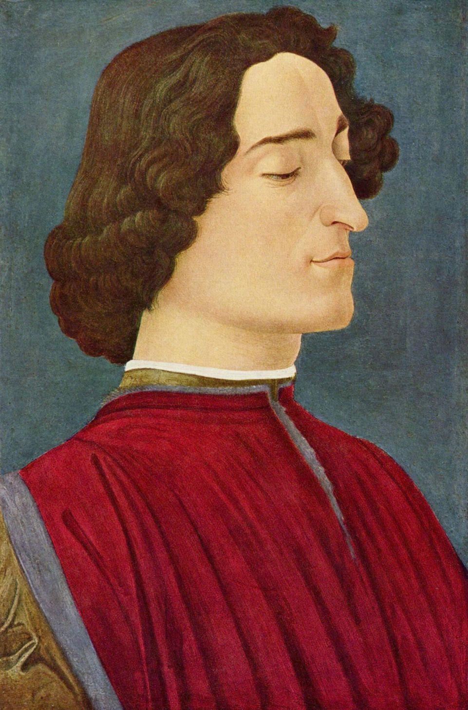 Sandro Botticelli. Portrait Of Giuliano De ' Medici