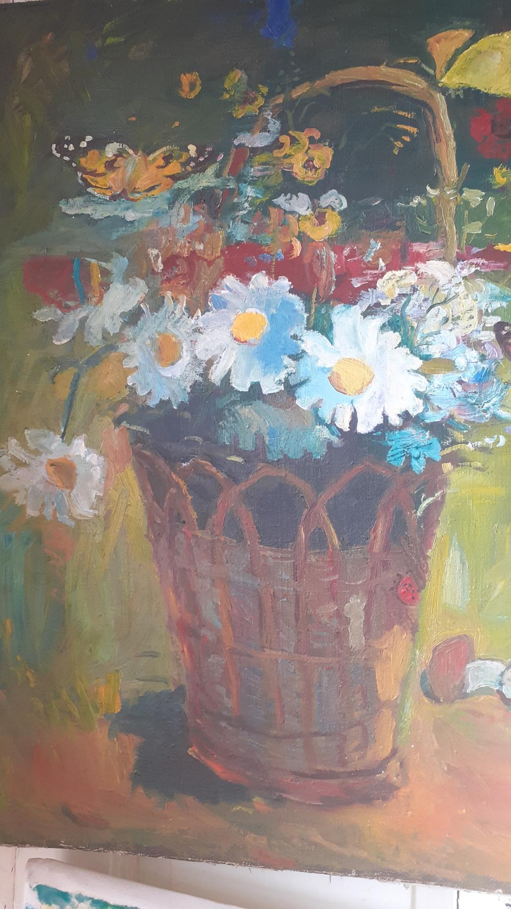 Igor Siemen. Basket with wildflowers
