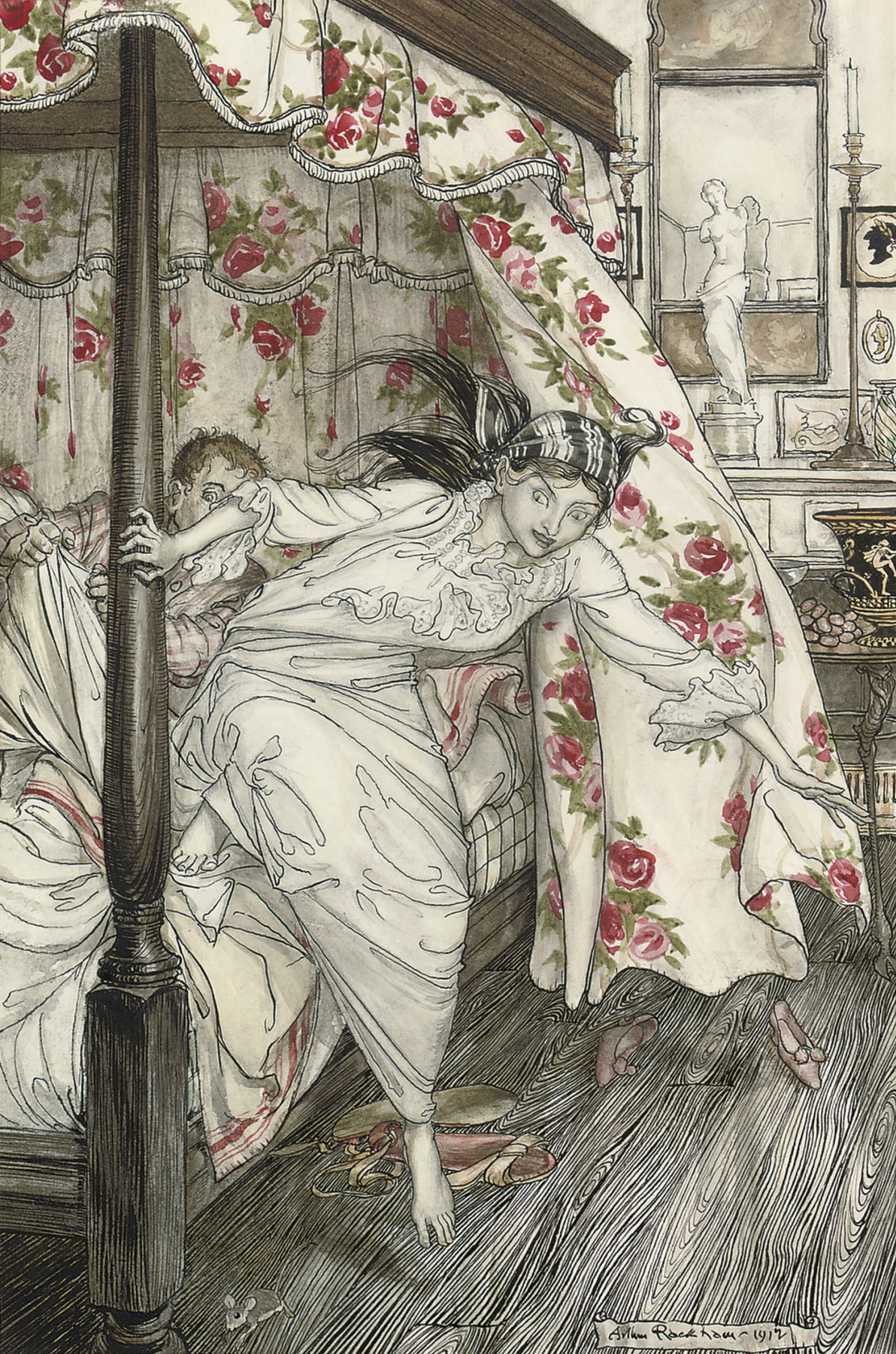 Arthur Rackham. Illustration for Aesop's Fable