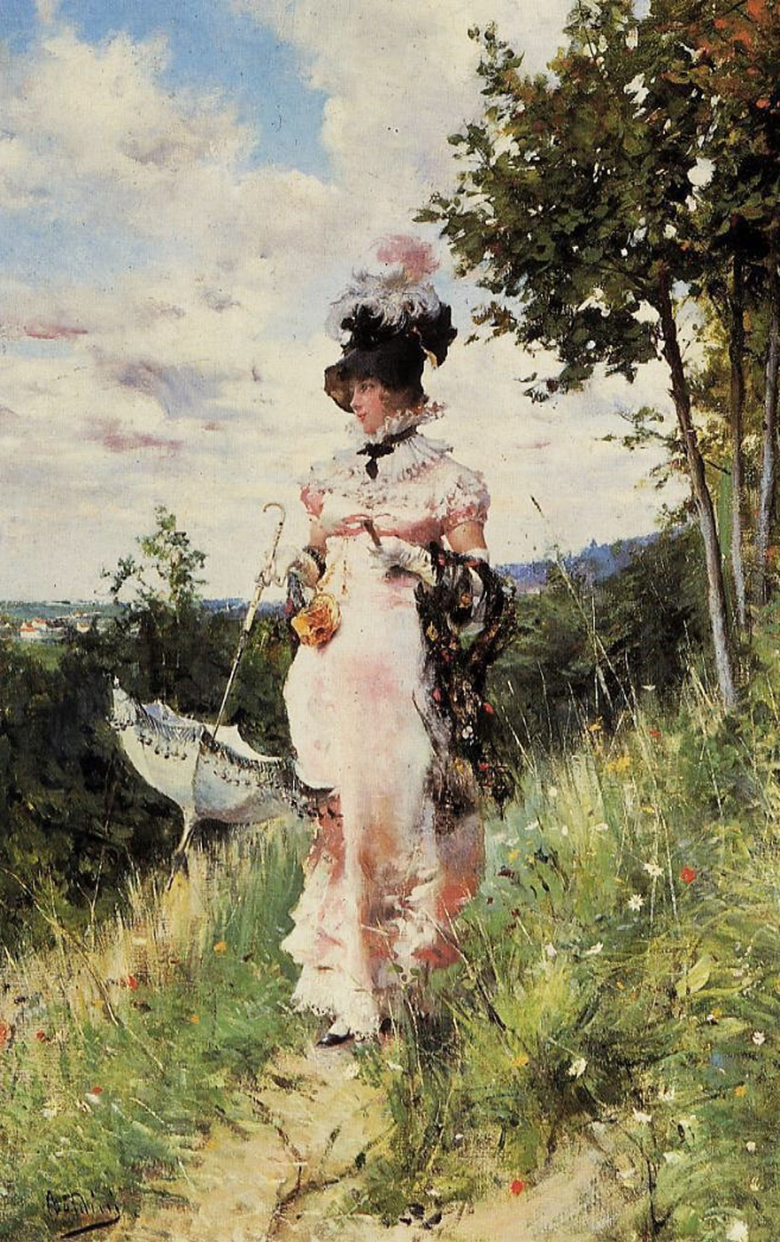 Giovanni Boldini. Summer walk