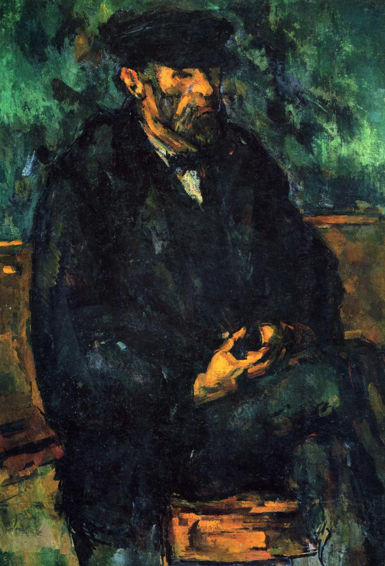 Paul Cezanne. Portrait of the gardener Vallier