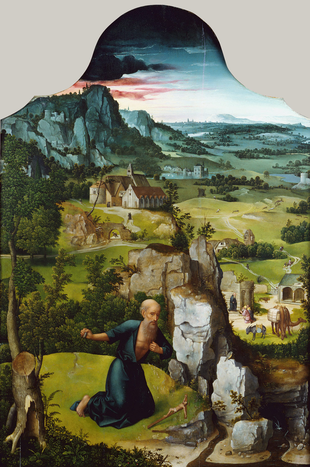 Joachim Patinir. The penitence of St. Jerome. The Central part of the altar