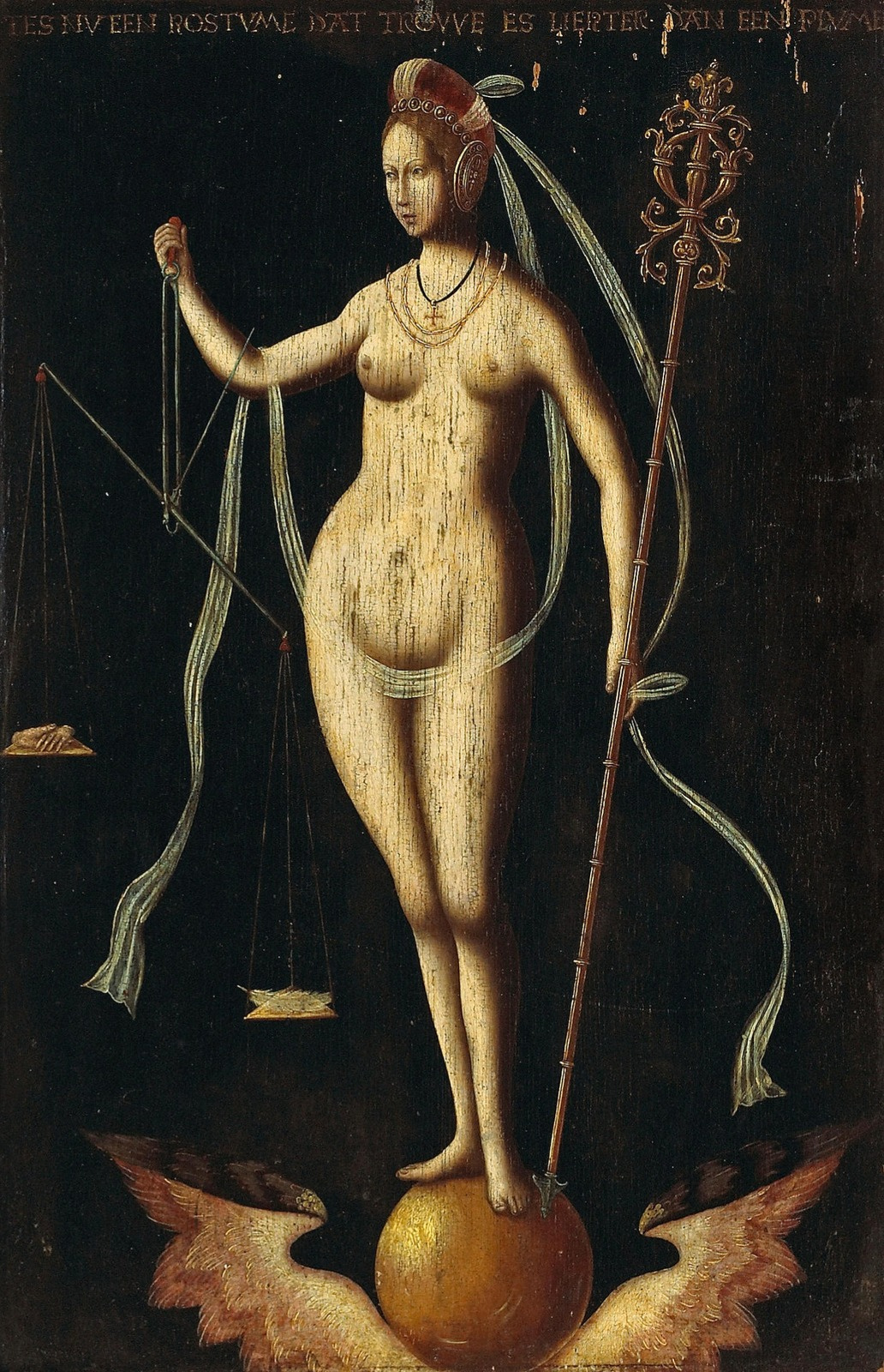 Unknown artist. Allegory of Justice. XVI century