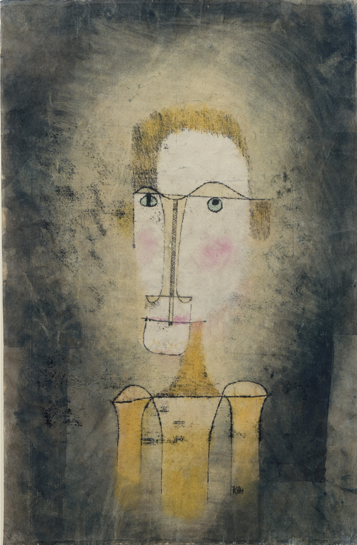 Paul Klee. Portrait of a yellow man