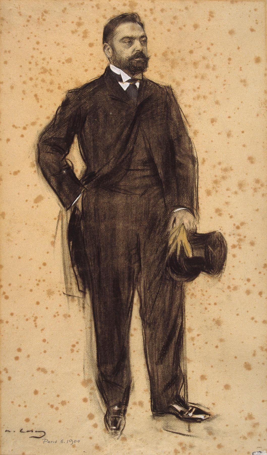 Ramon Casas i Carbó. Portrait of Joaquim Cabot