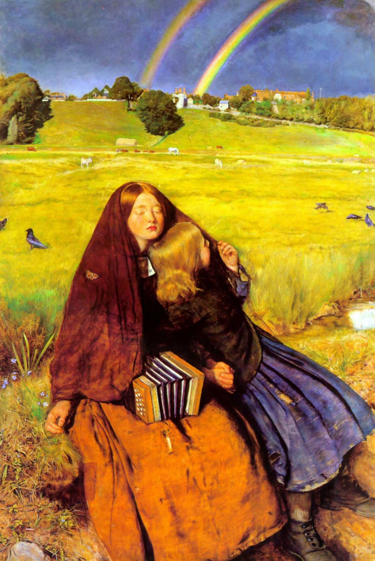 John Everett Millais. Blind girl
