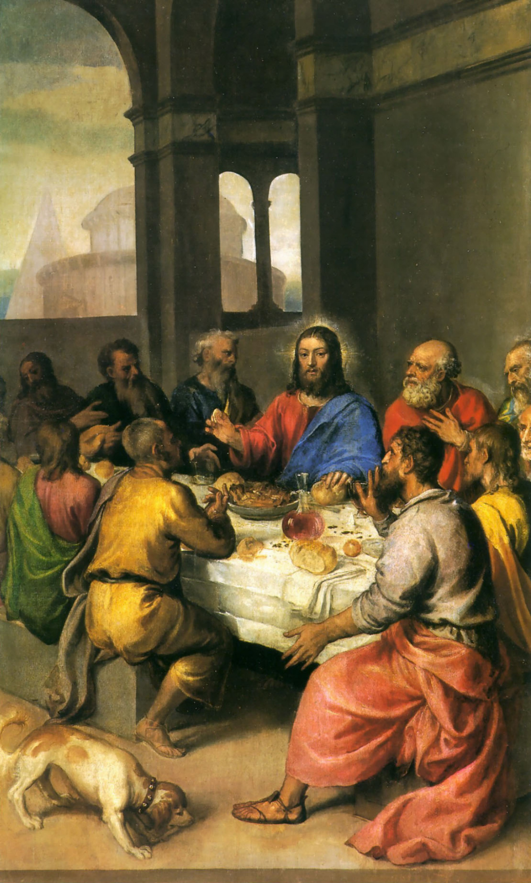 Titian Vecelli. The last supper