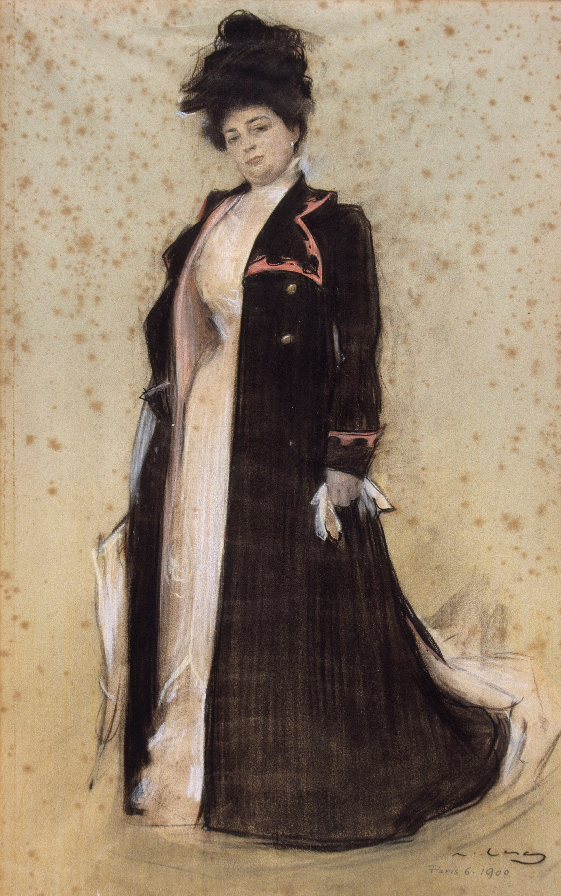 Ramon Casas i Carbó. Portrait of Maria Louise Caze Mira, wife of Joaquim Cabot
