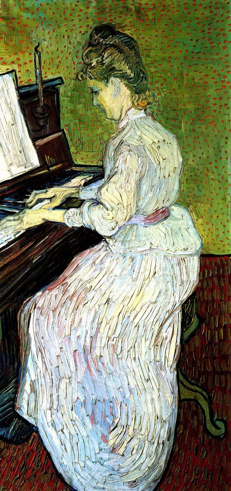 Vincent van Gogh. Marguerite Gachet at the piano