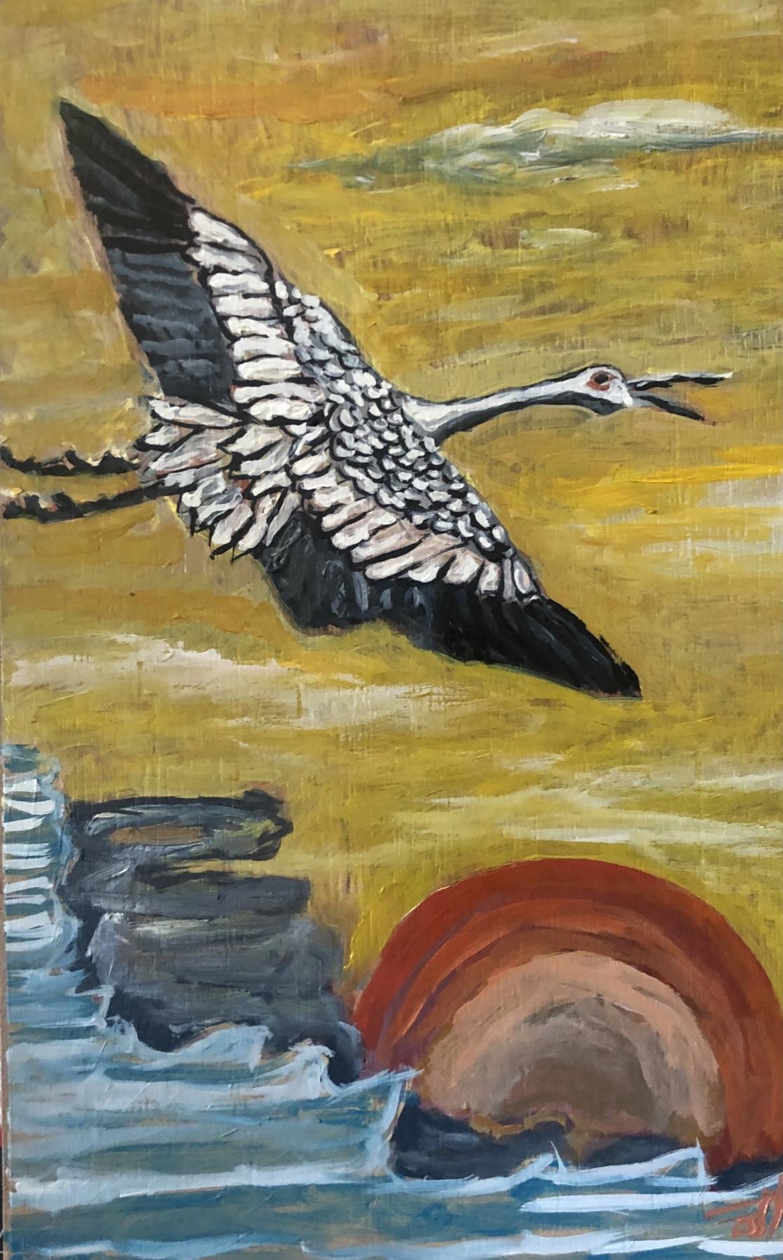 Sergey Vladimirovich Sebini. Flight. Variation on a theme by Kano Tsenenobu