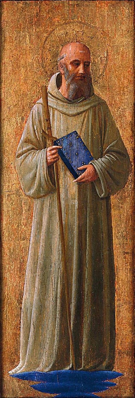 Фра Беато Анджелико. Святой Ромуальд Равенский. Пилястра алтаря монастыря Сан Марко