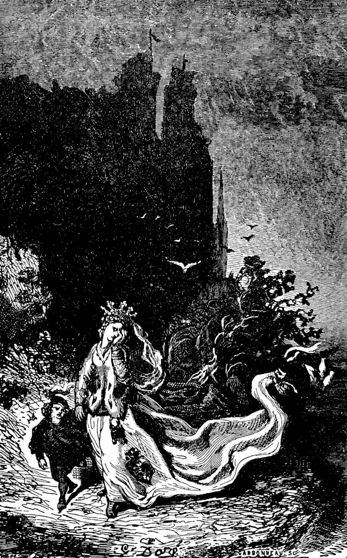 """Paul Gustave Dore. Illustration for Balzac's """"Naughty Tales"""""""