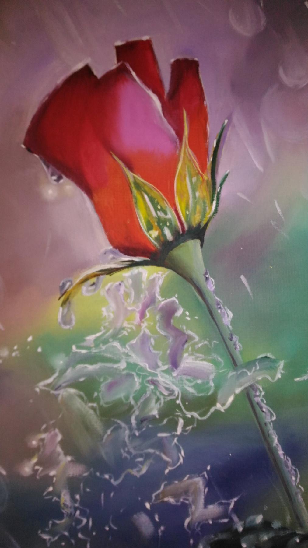 Lilya Fedorova. Rose flower