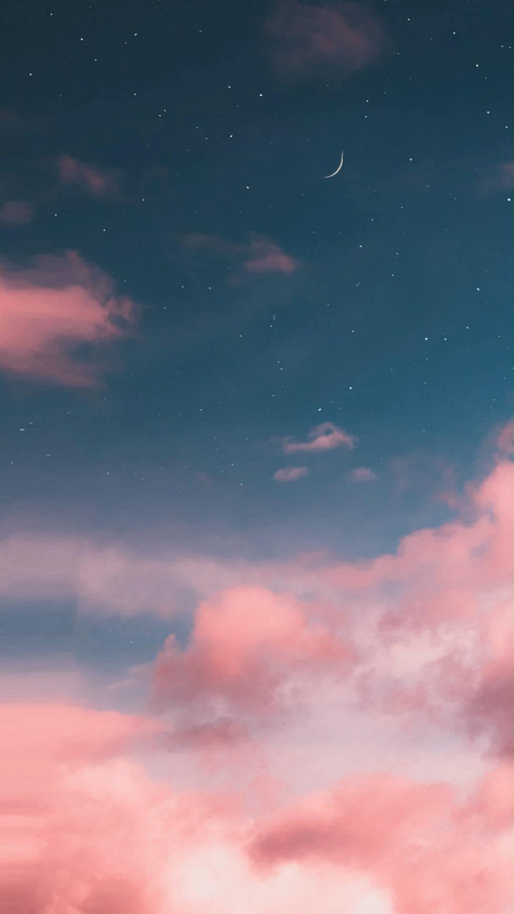 Nguyen Huu Son. Starry sky landscape with pink clouds